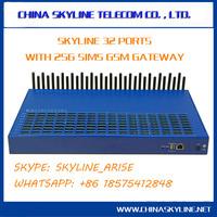 skyline 32-256 gsm voip gateway gsm to analog converter sim box