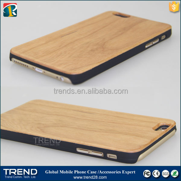 high quality real wood ahrd cover case for iphone 6 plus