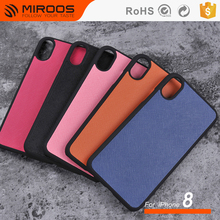 Fashion Handmade Genuine Leather Case Phone Cover OEM ODM Customized Shockproof for iPhone X Case