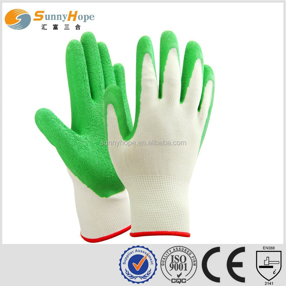 13G nylon latex coated gardening gloves ladies