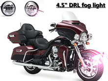 Cre-e Round 4.5 Inch LED Fog Light lamp With Angel Eyes halo headlights for Harley Davidso-n Motorcycles
