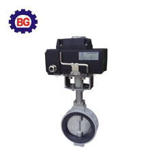 1 inch electrically actuated powder butterfly valve