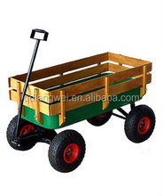 high quality wooden kid tool cart /wagon