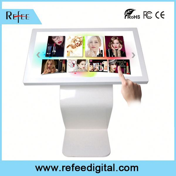 "Refee Interactive touch panel,remote control 42"" hotel multimedia pc interactive network touch screen kiosk"