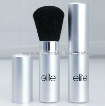 silver retractable blush brush