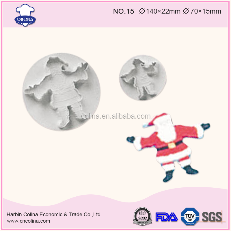 Big Size Father Christmas 140/70mm Santa Claus Kriss Kringle Cookie cutter Plunger cutter