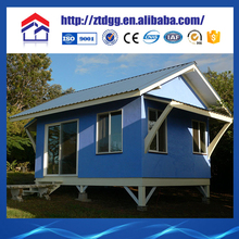Prefabricated steel tiny house with heavy steel fabrication
