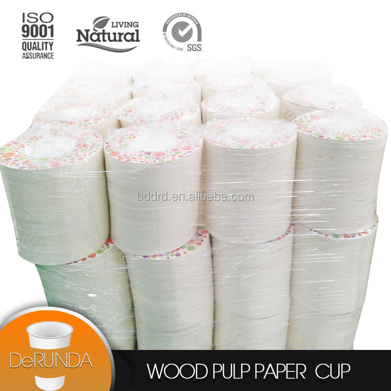 Made in China insulated food grade 100% wood pulping double pe coated single wall <strong>paper</strong> in sheet