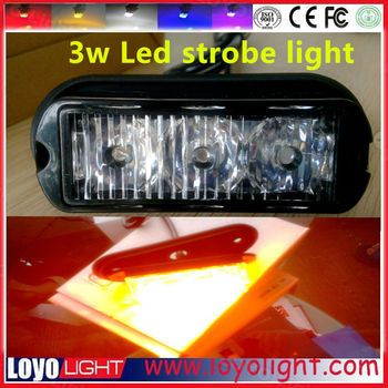 Guangzhou LOYO 3w led spot, flood beam warning light bar for jeep lighting, truck