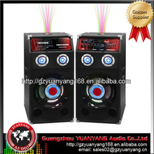 "2.0 PA system loudspeaker completed speaker 10"" with USB, SD, bluetooth, laser light for party and stage"
