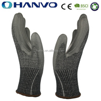 HANVO 10G HPPE PU Coated Work Gloves
