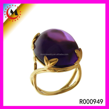 POUPLAR IN AMERICAN STYLE SIMPLE WOMEN FINGER PURPLE ONE STONE RING DESIGNS
