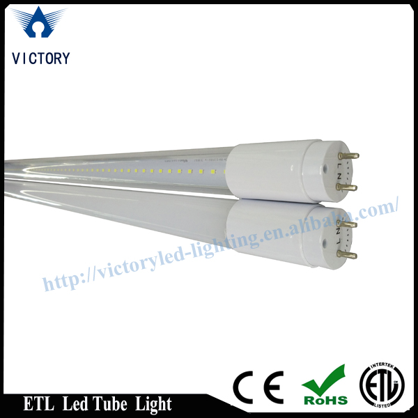 18W 4ft ETL led tube light high brightness 110V cool white 24 hour you tube