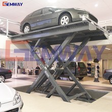 GEMWAY hydraulic stationary pit mounted scissor car lift equipment