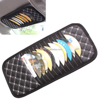 free shipping 100pcs High quality Auto Sun Visor CD Holder 11 CD Storage For Car CD Case And Bag Universal Design DHL