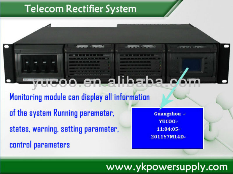 48VDC Telecom Power Rectifier System
