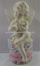 Decorate sitting mini angel statue