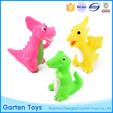 Hot selling OEM cute design kids soft mini plastic dinosaur pink toy