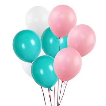 12 Inch White,Soft Pink,Turquoise Latex Balloons,100 pcs Latex Balloons on Amazon for Party Decorations