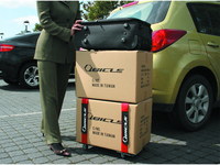 invention patent mobile 4 wheels trolley for travel