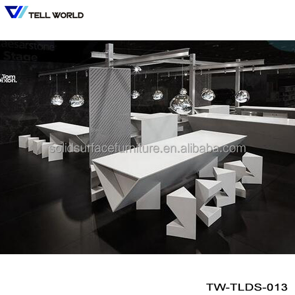 Elegant artificial marble stone dining table for restaurant furniture design