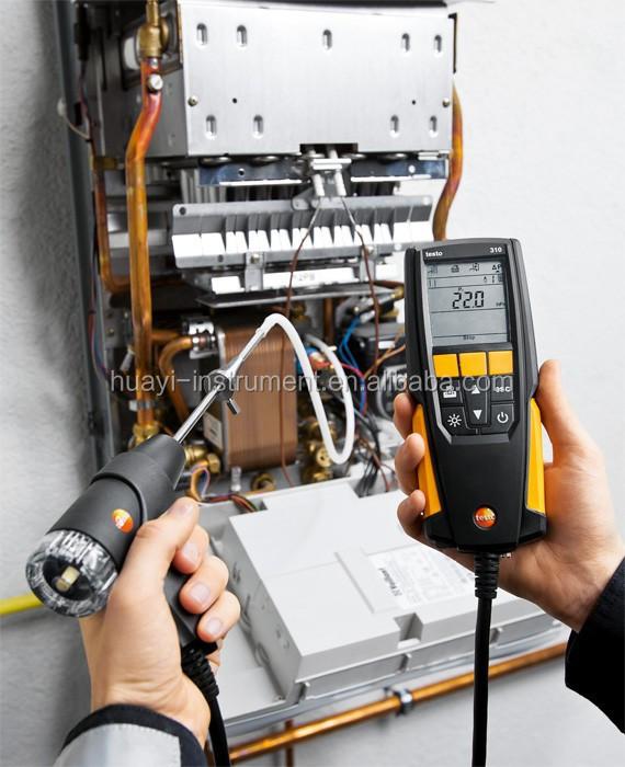 portable de combustion analyseur de gaz testo 310 pour o2 co2 temp rature testo 310 d tecteur. Black Bedroom Furniture Sets. Home Design Ideas