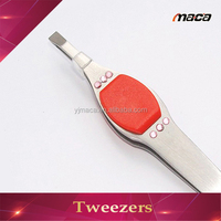 TW1275 fast delivery professional rubber tweezers with silicon