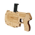 New Arrival! Bluetooth 4.0 Phone Stand Holder Design Wooden Large AR Gun Toys VR 3D AR Games for iPhone Android