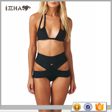China High Quality Swimwear Supplier Very Very Sexy Hot Sex Sling Black Hot Sex Girls Pushing Up Bikini