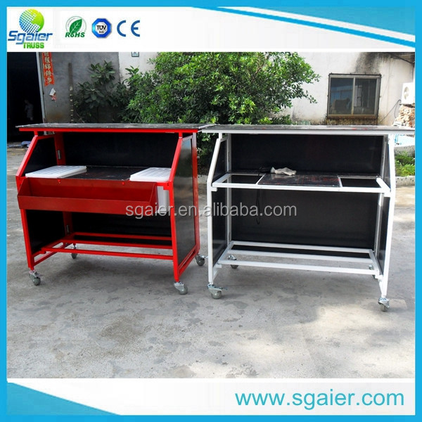 Commercial mobile folding juice bar counter for sale