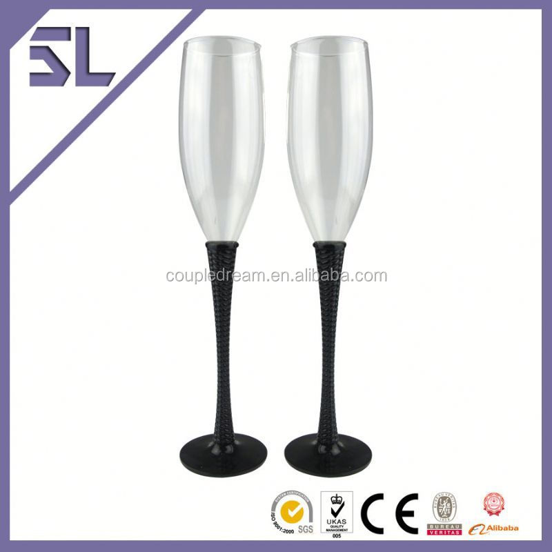 Wedding Heat Resistance Shinning Custom Decoration Champagne Glass Wholesale