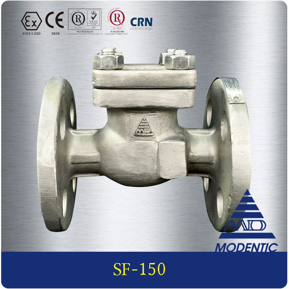 Modentic | 12 inch full port alloy 20 / ss316/ titanium / wcb 1pc swing check valve