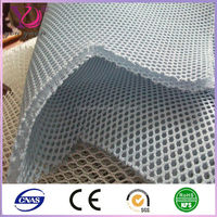 China 100% polyester warp knitted camouflage sports shoe 3d air spacer mesh fabric