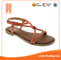Wholesale New Design Hemp Rope Sole Flat Sandal 2016 Summer Women Sandals
