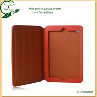 for ipad mini real leather case for ipad mini-paypal acceptable.for ipad mini leather flip case with retail packaging
