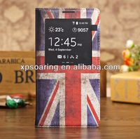 UK flag flip leather case cover for Samsung Galaxy Note 3