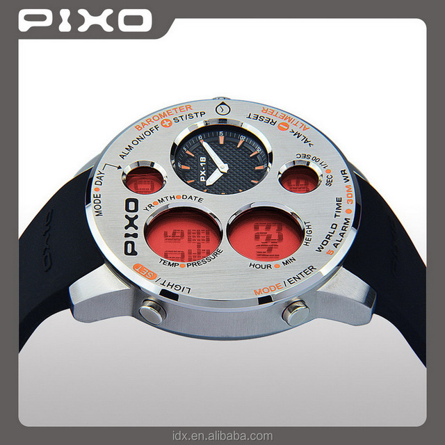 PX-18 OEM and ODM Top Quality stainless steel triple sensor steel orange custom logo Army Style military orologio watches