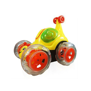 rsc-1091654 rc stunt car Cute snail remote control tumbling stunt car with flashing lights and dynamic music