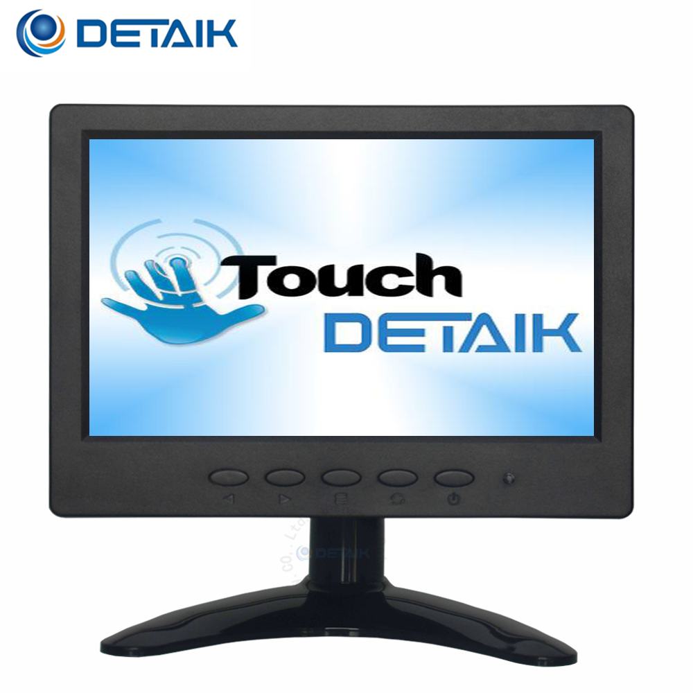 "7 Inch Touch Screen TFT LCD Monitor for Car PC Small 7"" USB LED Touchscreen Monitor with VGA Input"