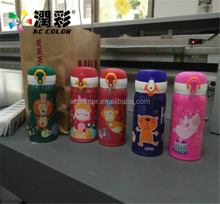 360 degree inkjet print on cylinder round bottle uv printer machine guangzhou factory price