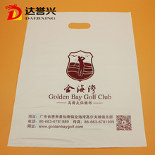 free samples custom printed plastic die cut golf packing bags