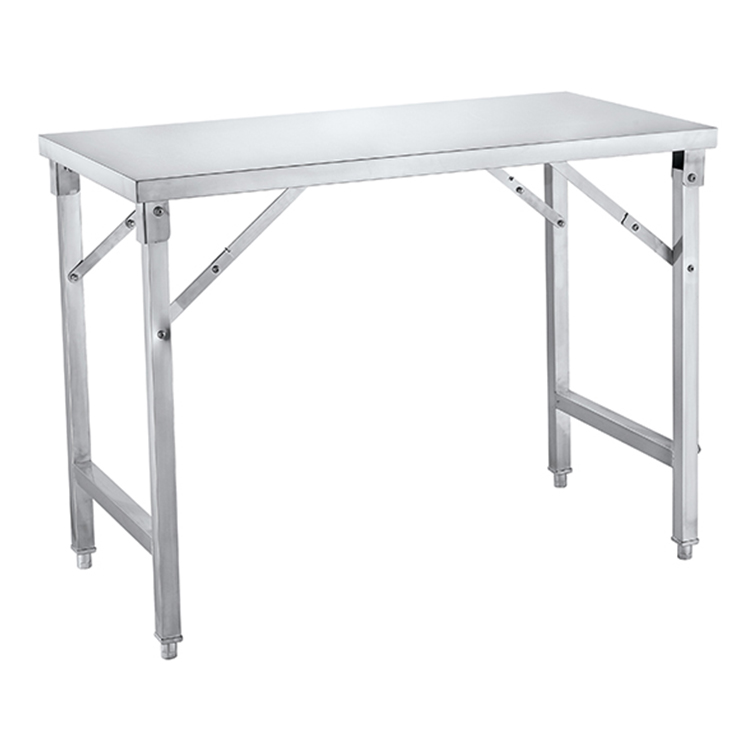 Heavy duty stainless steel folding commercial work table for kitchen