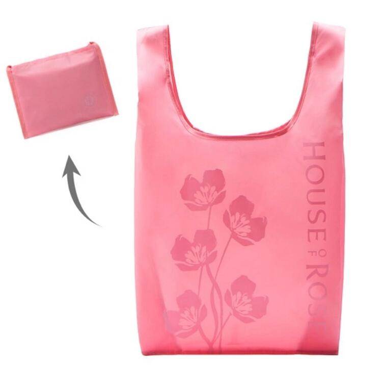 hot fashion reusable eco polyester wallet folding shopping tote bag