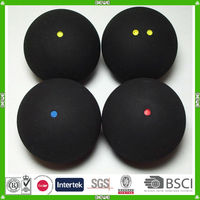 good quality hot sell single yellow dot squash ball made in China