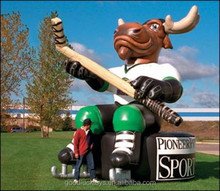 gaint inflatable hockey moose/inflatable moose decoy
