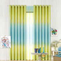 China simple curtains for living room voile curtain with loops