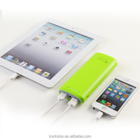 2014 new arriving private mould powerbank 15600mah dual usb for iPhone konfulon design
