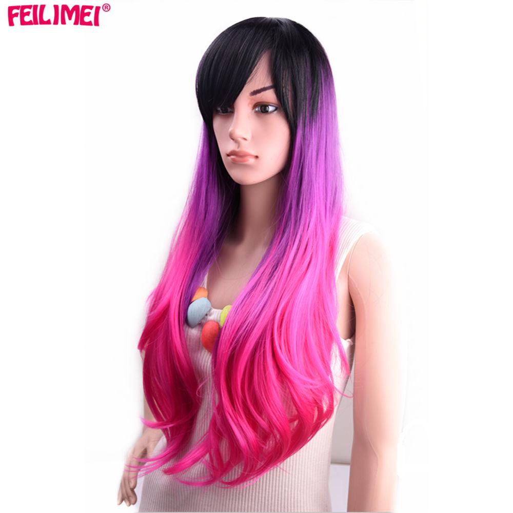 purple pink hair
