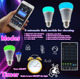 AC86-265V Wireless Bluetooth Speaker E27 LED Bulb Light Lamp Remote Control Music on the smartphone
