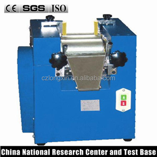 manual mini laboratory triple roller grinder three roll mill for plant oil